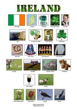 IRELAND - VOCABULARY - PICTIONARY