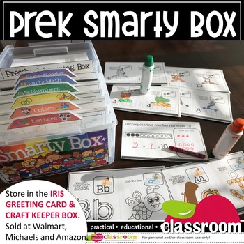 *200 Task Cards PREK SMARTY BOX (PRESCHOOL KINDERGARTEN)