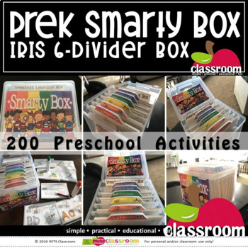 DISTANCE LEARNING * 200 Task Cards PREK SMARTY BOX BUNDLE (PREK KINDERGARTEN)