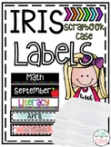 IRIS Box Scrapbook Bin Labels *EDITABLE*