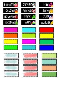 IRIS Box Scrapbook Bin Labels *EDITABLE*