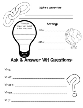 IRLA 1B-2R Skill Card Comprehension Worksheet