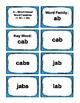 1st Grade 1.30-1.59 A-Word Families Cards (Aligned to American Reading Co IRLA)