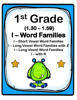 1st Grade 1.30-1.59 I-Word Families Cards (Aligned to American Reading Co IRLA)