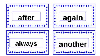 IRLA 1B tricky words