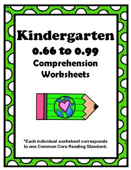 Kindergarten 0.66-0.99 Compr Assignments Aligned to American Reading Co IRLA