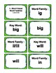 Kinder. 0.66-0.99 I, O, & U-Word Families Cards Aligned to American Reading IRLA