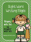 Sight Word Writing Papers ~Aligned with IRLA's 1G Power Words from ARC~
