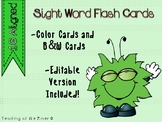 "IRLA Aligned ""1G"" Sight Words Flash Cards - Color and B/W w/ Editable File"