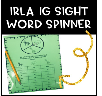 IRLA 1G Sight Word Spinners