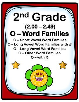 2nd Grade 2.00-2.49 O-Word Families Cards (Aligned to Amer