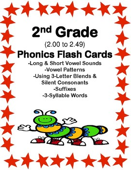 2nd Grade 2.00-2.49 Phonics Flash Cards Aligned to American Reading Co IRLA