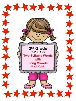 IRLA: 1R - Two-Syllable Words with Long Vowels Flash Cards
