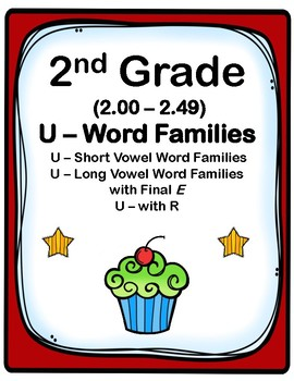 2nd Grade 2.00-2.49  U-Word Families Cards (Aligned to American Reading Co IRLA)