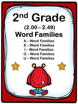 2nd Grade 2.00-2.49 Word Families Cards (Aligned to American Reading Co IRLA)