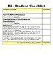 Kindergarten CCSS Student Checklists (Correlated to American Reading Co IRLA)