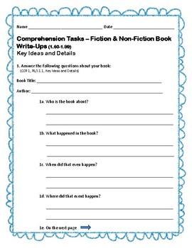 1st Gr 1.6-1.9 Comp Tasks-Key Ideas & Details Alinged American Reading Co IRLA