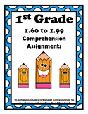 1st Grade 1.60-1.99 Comp. Assignments Aligned to American Reading Co IRLA