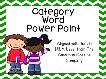 Category Words Power Point *FREEBIE*  (aligned with  Ameri