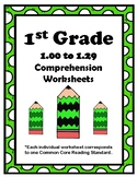 1st Grade 1.00-1.29 Comp. Assignments (Aligned to American Reading Co IRLA