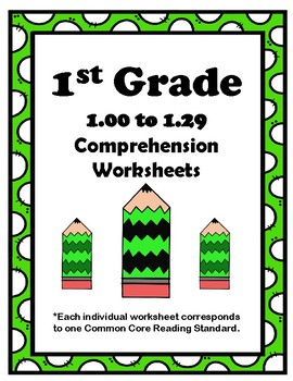 1st Grade 1.00-1.29 Comp. Assignments (Aligned to American