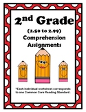 2nd Gr. 2.50-2.99 Comprehension Assignments Aligned to Ame