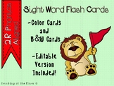 "IRLA Aligned ""2R Phonics"" Sight Words Flash Cards - Color & B/W w/ Editable File"