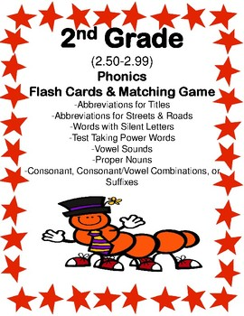 2nd Grade 2.50-2.99 Phonics Cards & Games Aligned to Ameri