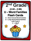 2nd 2.5-2.9 Grade U-Word Families Cards Aligned to American Reading Company IRLA