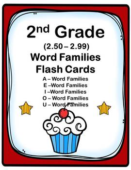 2nd Grade 2.50-2.99 Word Families Cards (Aligned to American Reading Co IRLA)