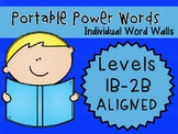 IRLA ALIGNED 1B - 2B Portable Power Words - Individual Word Walls