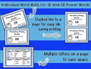 IRLA ALIGNED 1B - 2B Portable Power Words - Individual Word Walls