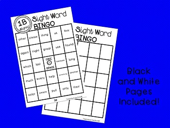 IRLA  ALIGNED 1B Power Word BINGO