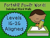 IRLA ALIGNED 1G - 2G Portable Power Words - Individual Word Walls