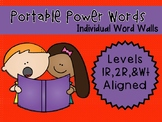 IRLA ALIGNED 1R- 2R - Wt Portable Power Words - Individual Word Walls