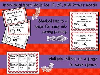 IRLA ALIGNED 1R- 2R - Wt Portable Power Words - Individual Word Walls