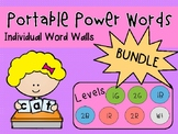 IRLA ALIGNED Individual/Personal Word Walls 1G-2G-1B-2B-1R-2R-Wt & Combined