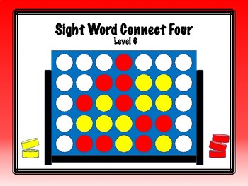 IRLA Aligned Connect Four Sight Word Recognition Game - Level 6