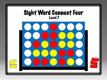 IRLA Aligned Connect Four Sight Word Recognition Game - Level 7