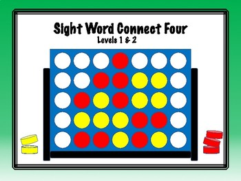 IRLA Aligned Connect Four Sight Word Recognition Game - Levels 1 & 2
