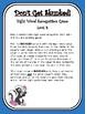 IRLA Aligned Don't Get Skunked Sight Word Recognition Game - Level 4
