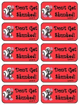 IRLA Aligned Don't Get Skunked Sight Word Recognition Game - Level 5