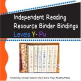 Printable Bindings for IRLA Resource Binders