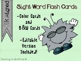 "IRLA Aligned ""Bk"" Sight Words Flash Cards w/ Editable File"