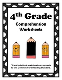 4th Grade CCSS Comprehension Assignments (Correlated to Am