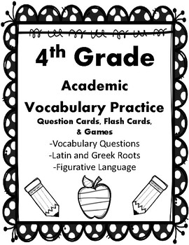 4th Grade Vocab Qs, Flash Cards, & Games Correlated to American Reading Co IRLA