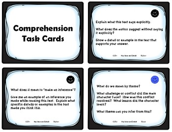 4th Grade Comprehension Task Cards Aligned to American Reading Company
