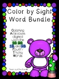 Color by Sight Word BUNDLE Aligned with IRLA's 1G, 2G,1B a