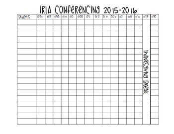 Conference Tracking Form