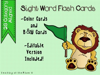 "FREEBIE IRLA Aligned ""2G"" Category Flash Cards - Color & B/W w/ Editable File"